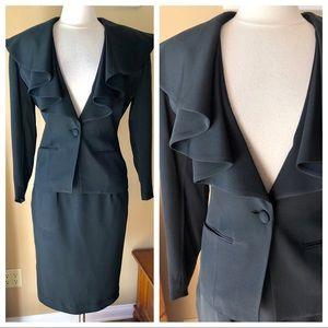 Tahari Vintage Silk Suit Jacket & Skirt